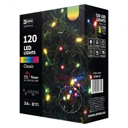 Vánoční dekorace Vánoční osvětlení Emos ZY0813T, barevná, 12 m