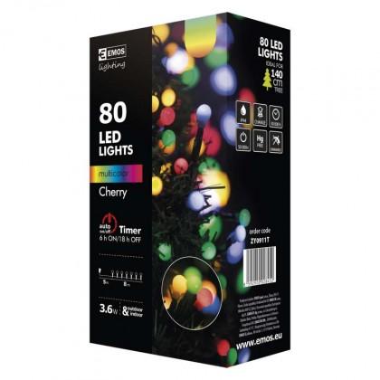 Vánoční dekorace Vánoční osvětlení Emos ZY0911T, kuličky, barevná, časovač