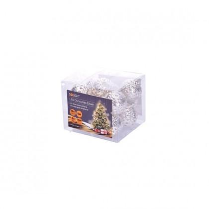 Vánoční dekorace Vánoční osvětlení Solight 1V207-S, koule, stříbrné, 1m