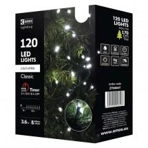 Vánoční osvětlení Emos ZY0803T, studená bílá, 12 m, časovač