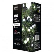 Vánoční osvětlení Emos ZY0901T, kuličky, studená bílá, 8 m