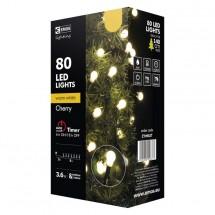 Vánoční osvětlení Emos ZY0902T,  kuličky, teplá bílá, 8 m