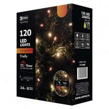 Vánoční osvětlení Emos ZY1908T, jantarová + červená, 12 m