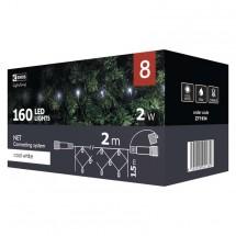 Vánoční osvětlení Emos ZY1934, síť, studená bílá, 2 m