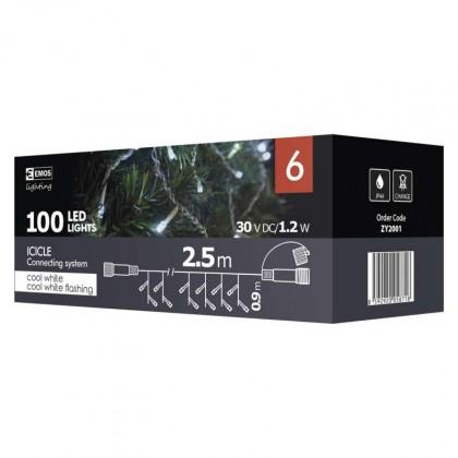 Vánoční osvětlení Emos ZY2001, spojovací, rampouchy, 2,5 m ROZBAL