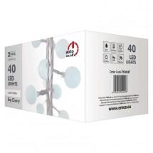Vánoční osvětlení Emos ZY2022T, kuličky, studená bílá, 4 m