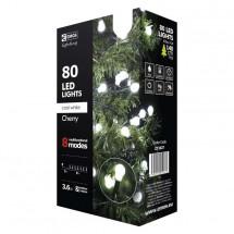 Vánoční osvětlení Emos ZY2027, kuličky, studená bílá, 8 m