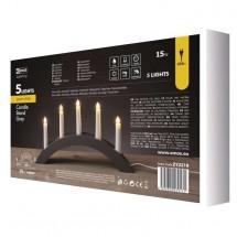 Vánoční osvětlení Emos ZY2218, šedý dřevěný oblouk, 40x28 cm