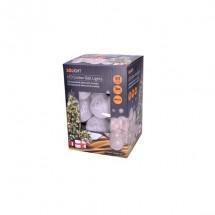 Vánoční osvětlení Solight 1V48, bavlněné koule, teplá bílá, 3m