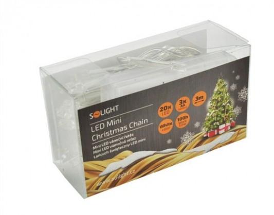 Vánoční osvětlení Solight 1V50W, LED, bílé, 3m