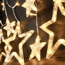 Vánoční závěs Solight 1V227, LED, hvězdy, 1,8m