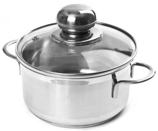Vaření ZLEVNĚNO Indukční nerezový hrnec s poklicí PROhome City 12cm, 0,8l