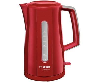 Varná konvice Rychlovarná konvice Bosch TWK3A014, červená, 1,7l