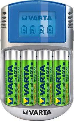 Varta LCD charger 4xAA2400+12V+USB