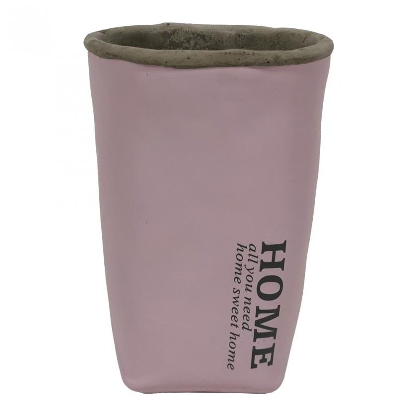 Vázy Cementová váza CV05 růžová (20 cm)