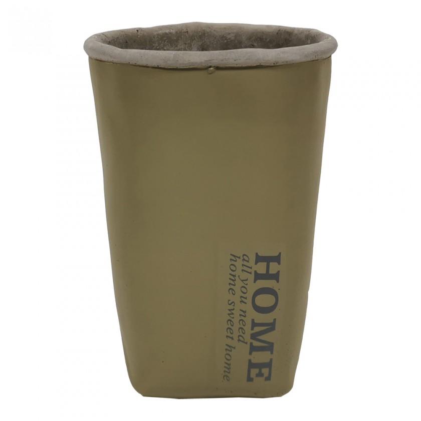Vázy Cementová váza CV06 khaki (20 cm)
