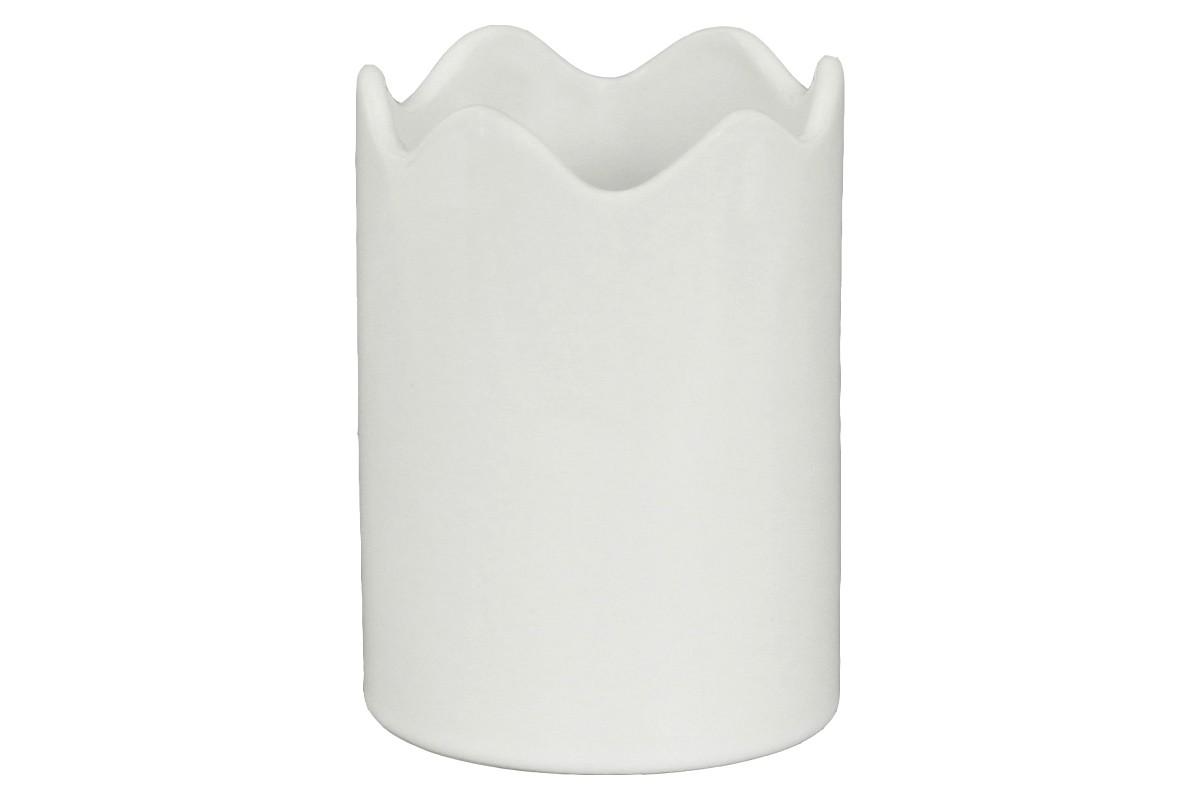 Vázy Keramická váza VK15 (bílá, 12 cm)