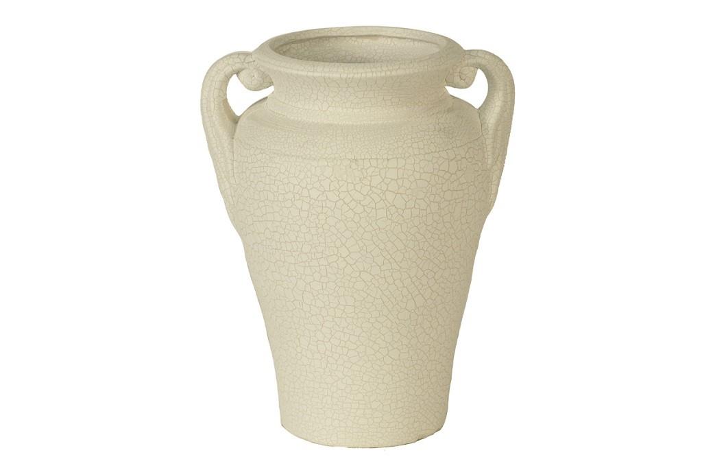 Vázy Keramická váza VK20 (béžová, 22,5 cm)