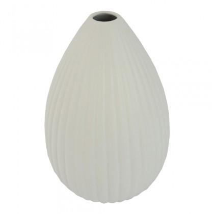 Vázy Keramická váza VK35 bílá matná (25 cm)