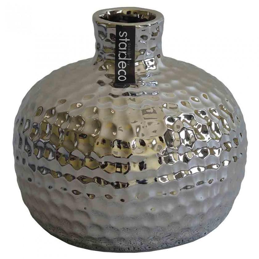 Vázy Keramická váza VK55 stříbrná (13,5 cm)