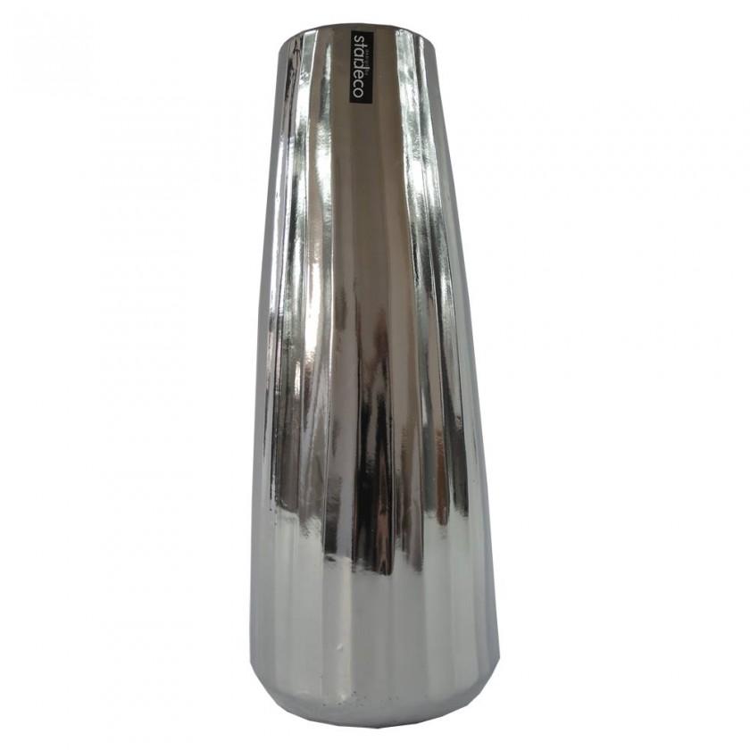 Vázy Keramická váza VK70 stříbrná (35 cm)