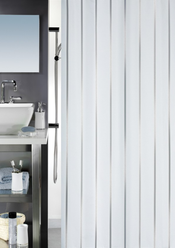 Vento-Sprchový závěs 180x200(stříbrná)