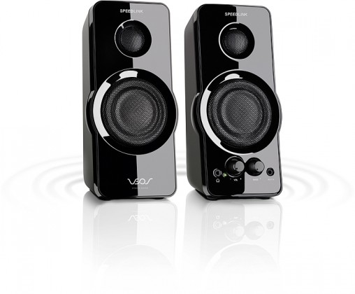 VEOS Stereo Speakers SL8120SBK, black
