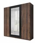 Vera - Skříň 228x214x58 cm, klasické dveře, zrcadlo, dub