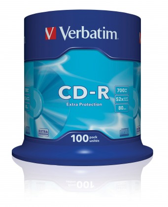Verbatim CD-R DataLife Protection 52x, 100ks cakebox (43411)