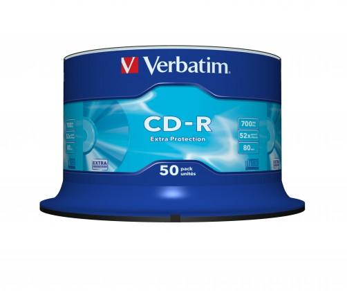 Verbatim CD-R DataLife Protection 52x, 50ks cakebox (43351)