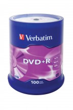 Verbatim DVD+R 16x, 100ks cakebox (43551)