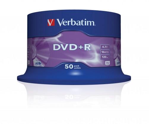 Verbatim DVD+R 16x, 50ks cakebox (43550)