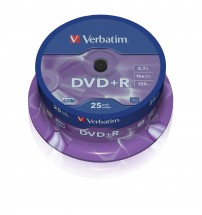 Verbatim DVD+R 4,7GB 16x, 25ks (43500)