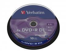 Verbatim DVD+R 8,5GB 8x, 10 ks (43666)