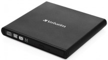 VERBATIM Externí CD/DVD Slimline mechanika USB 2.0 černá +Nero