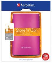 "VERBATIM Hard Drive 2,5"" 1TB USB 3.0 jasně růžový - 53073"