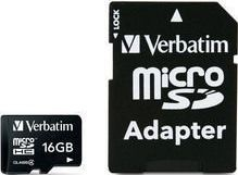 Verbatim micro SDHC 16GB (Class 4) + SD adaptér