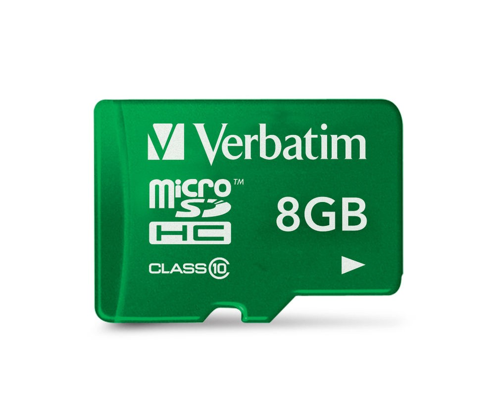 VERBATIM Micro SecureDigital SDHC 8GB Class 10 + SD adaptér