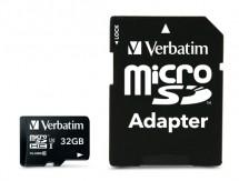 VERBATIM Pro microSDHC 32GB UHS-I V30 U3 + SD adaptér