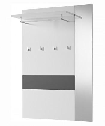Věšák GW-Alameda - Věšákový panel široký,se zrcadlem (antracit/bílá)