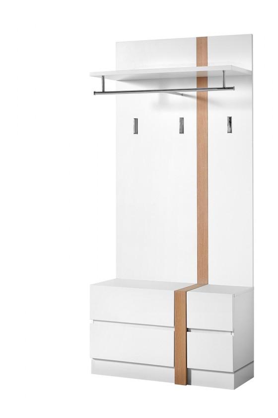 Věšák GW-Loft - Věšákový panel,2x dveře (bílá)