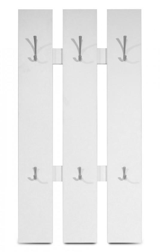 Věšák GW-Mediano - Věšákový panel, 6x háček (bílá)