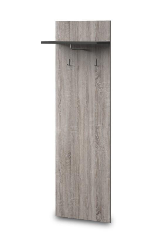 Věšák PACIFIK Typ 79(dub bardolino/grafit vysoký lesk)