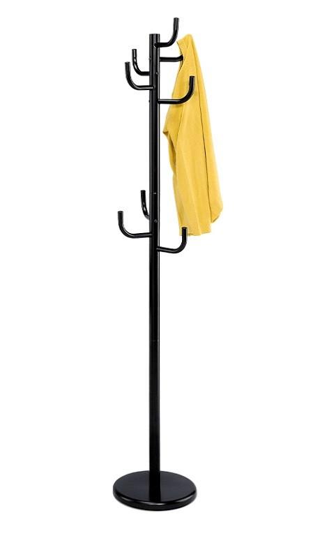 Věšáky Stojanový věšák - SV 06, 175 cm (černá, kov)