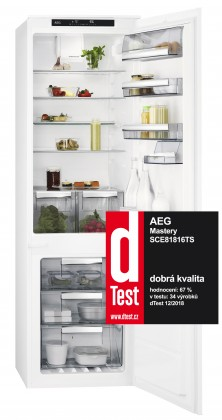 Vestavná lednička Vestavná kombinovaná lednice AEG SCE81816TS