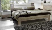 Vicenza - Komplet, postel 160 cm (dub/alpská bílá)