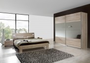 Vicenza - Komplet velký 5, postel 160 cm (dub)