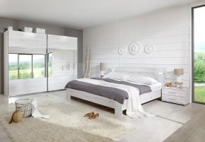 Vicenza - Komplet velký 6, postel 160 cm (dub bílý)