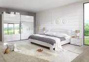 Vicenza - Komplet velký, postel 180 cm (dub bílý)