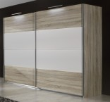 Vicenza - Šatní skříň 4, 2x posuvné dveře (dub/alpská bílá)